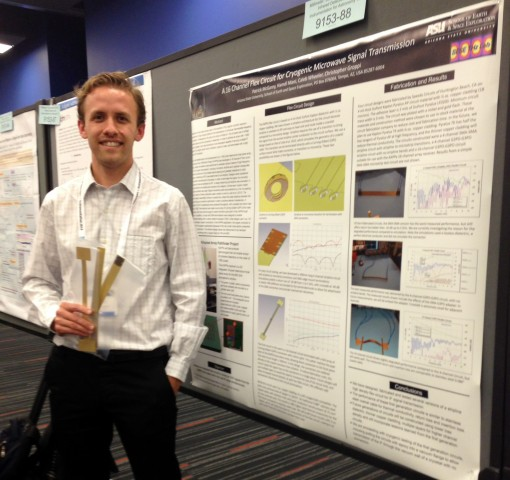 Presenting my poster at SPIE 2014