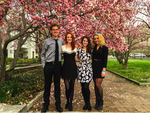 Killam fellows at Spring Seminar in Washington, D.C.  (from left to right) Christian Norton, Maggie Lapoint, Stefanie Broos, and Christina Joynt